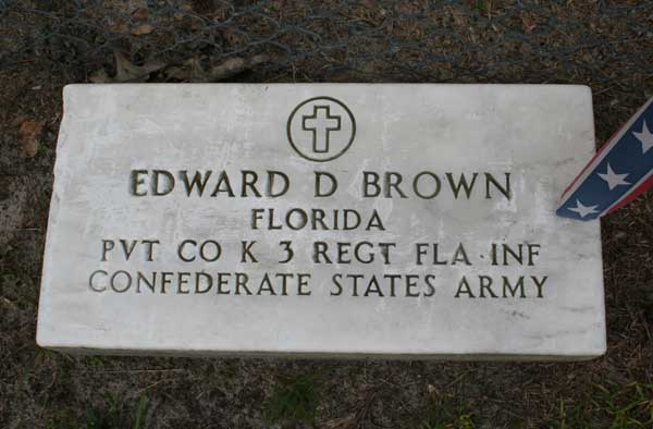 Edward D. Brown Gravestone Photo