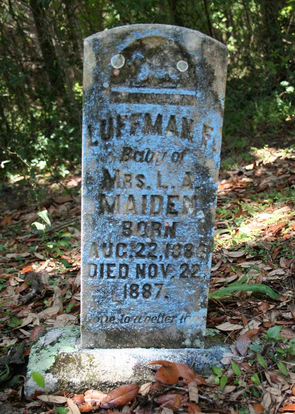Luffman F. Maiden Gravestone Photo
