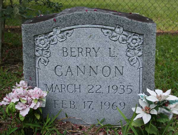 Berry L. Cannon Gravestone Photo