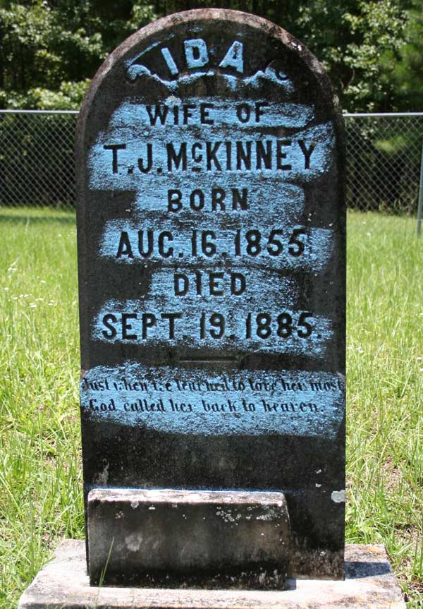 Ida McKinney Gravestone Photo