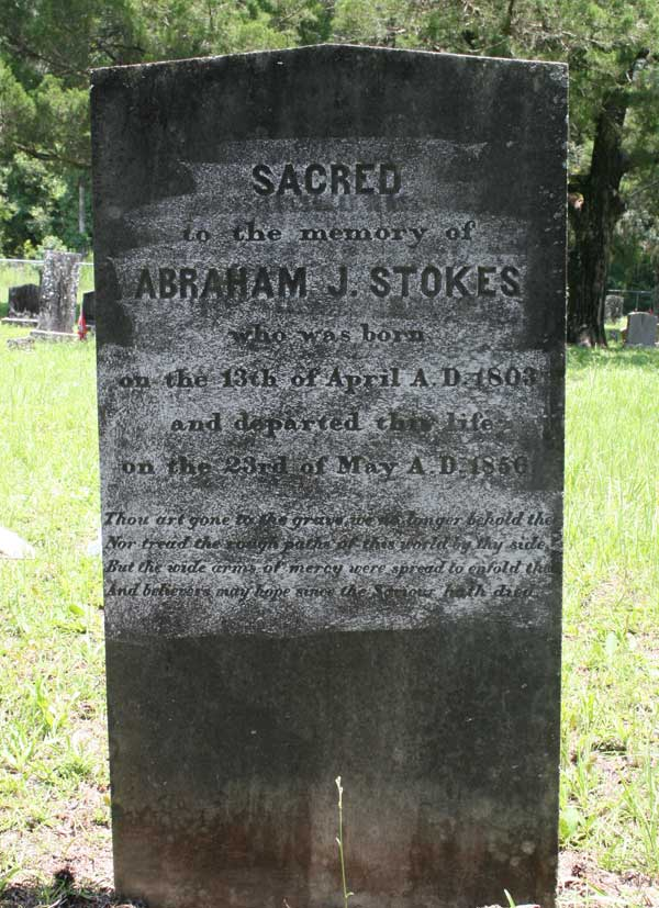 Abraham J. Stokes Gravestone Photo