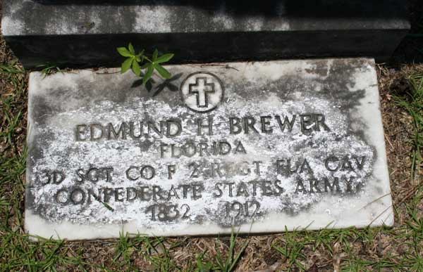 Edmund H. Brewer Gravestone Photo