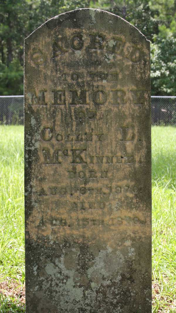 Colley L. McKinney Gravestone Photo
