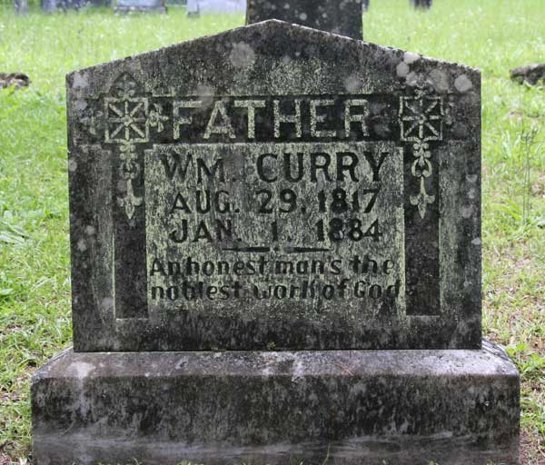 Wm Curry Gravestone Photo
