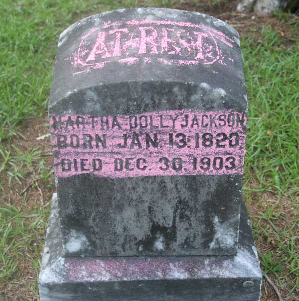 Martha Dolly Jackson Gravestone Photo
