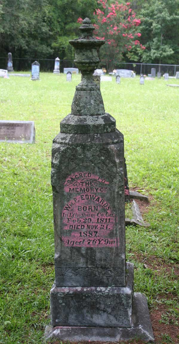 Wm P. Edwards Gravestone Photo