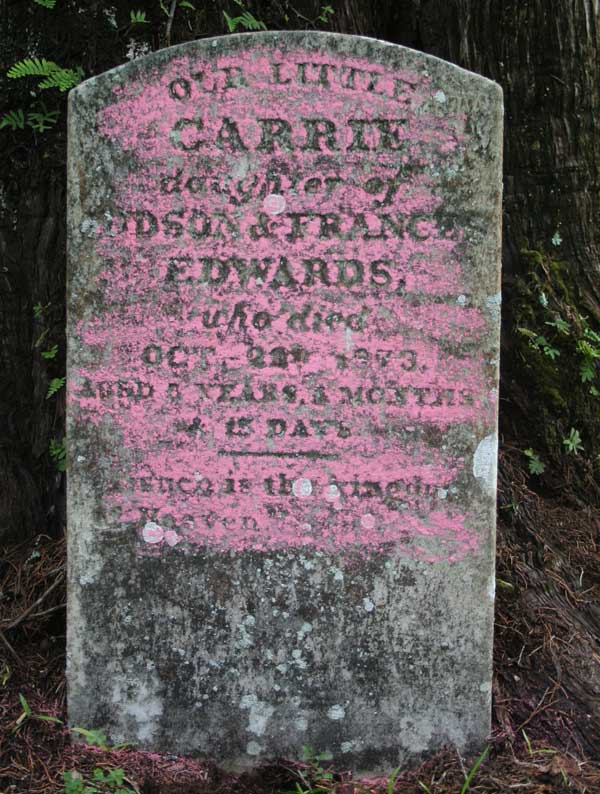 Carrie Edwards Gravestone Photo