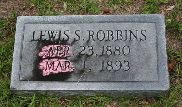 Lewis S. Robbins Gravestone Photo