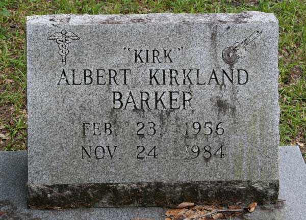 Albert Kirkland Barker Gravestone Photo