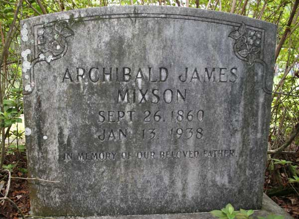 Archibald James Mixson Gravestone Photo