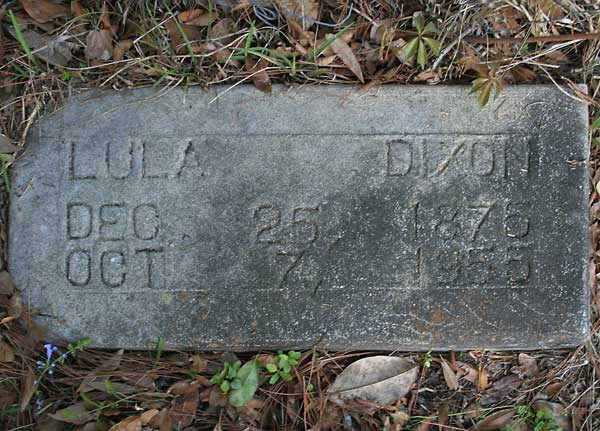 Lula Dixon Gravestone Photo