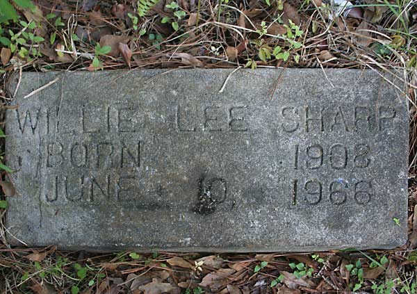 Willie Lee Sharp Gravestone Photo