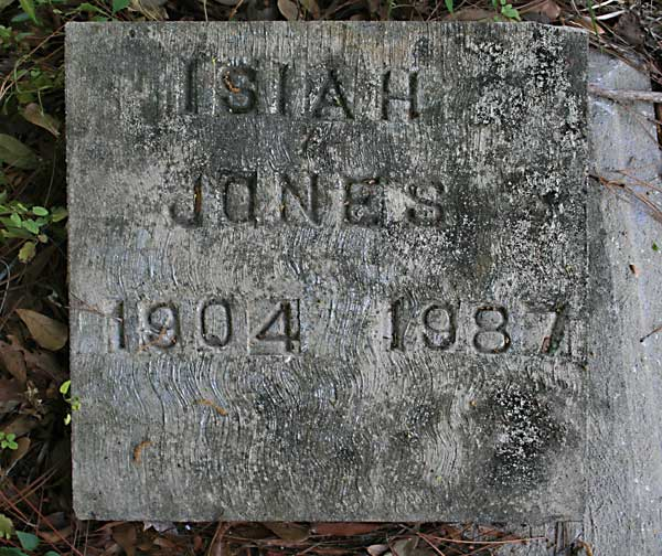 Isiah Jones Gravestone Photo