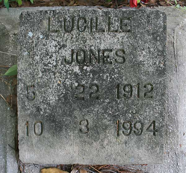 Lucille Jones Gravestone Photo