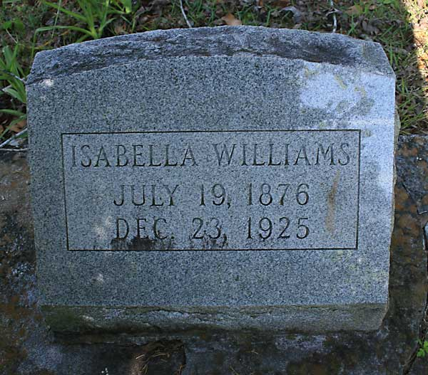 Isabella Williams Gravestone Photo