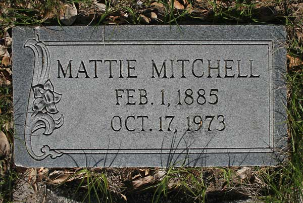 Mattie Mitchell Gravestone Photo