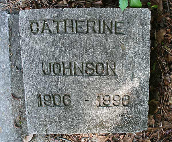 Catherine Johnson Gravestone Photo