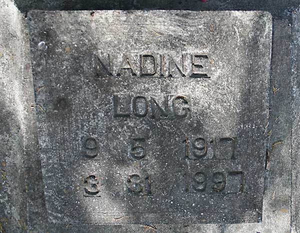 Nadine Long Gravestone Photo