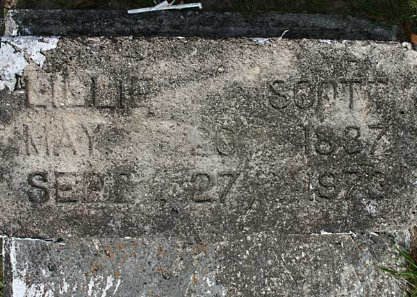 Lillie Scott Gravestone Photo