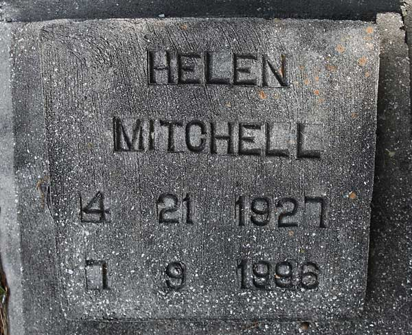 Helen Mitchell Gravestone Photo