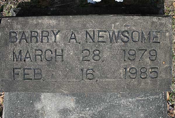 Barry A. Newsome Gravestone Photo