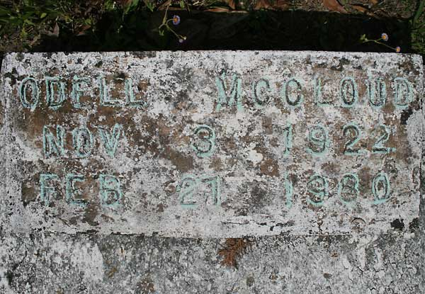 Odell McCloud Gravestone Photo