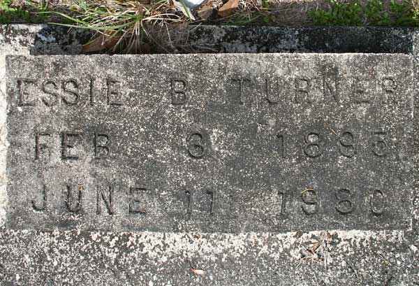 Essie B. Turner Gravestone Photo