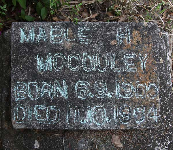 Mable H. McCouley Gravestone Photo
