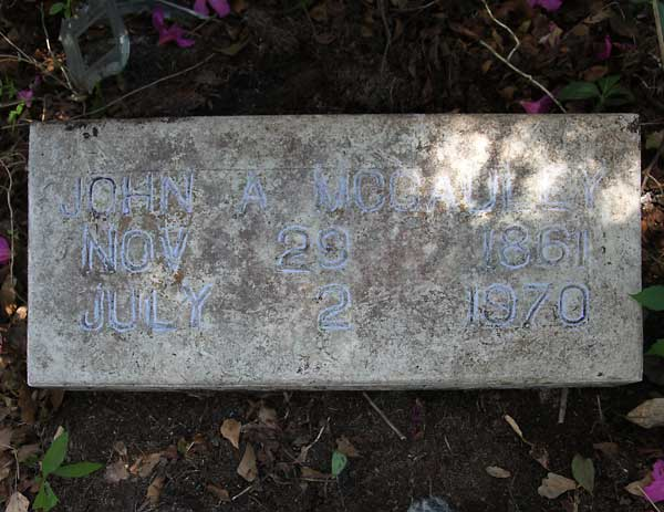 John A. McCauley Gravestone Photo