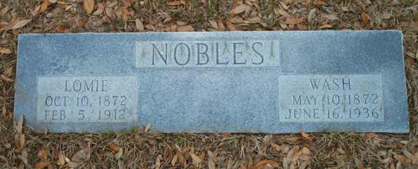 Lomie & Wash Nobles Gravestone Photo