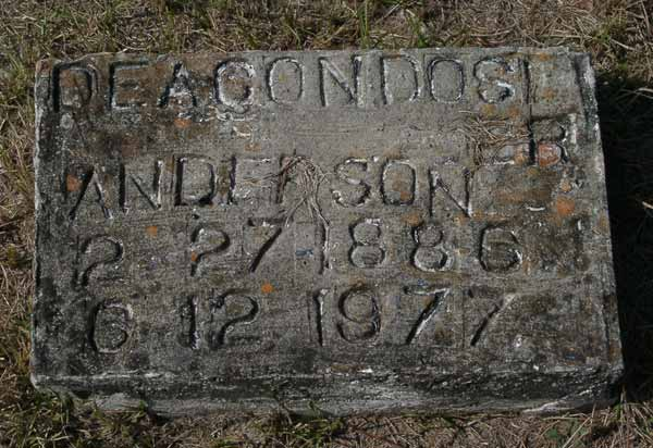 Deacon Dosier Anderson Gravestone Photo