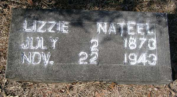 Lizzie Nateel Gravestone Photo