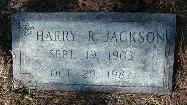 Harry R. Jackson Gravestone Photo