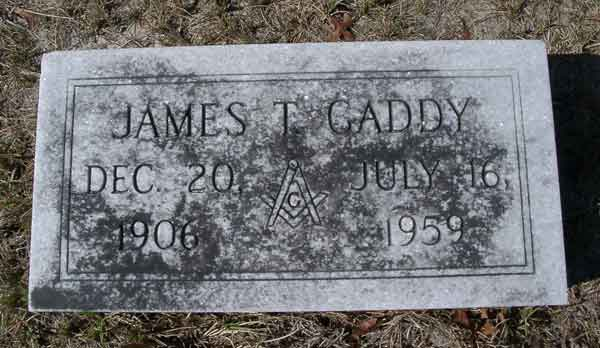 James T. Gaddy Gravestone Photo