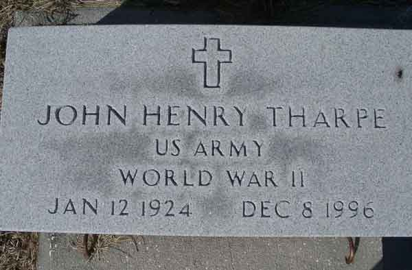 John Henry Tharpe Gravestone Photo