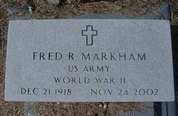 Fred R. Markham Gravestone Photo