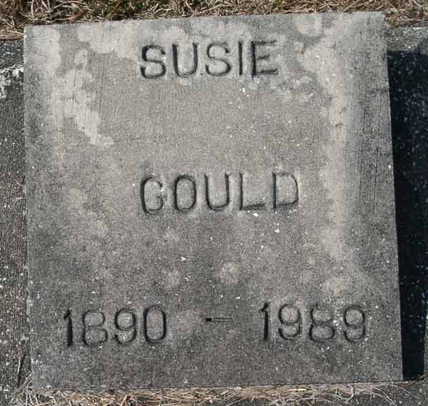 Susie Gould Gravestone Photo