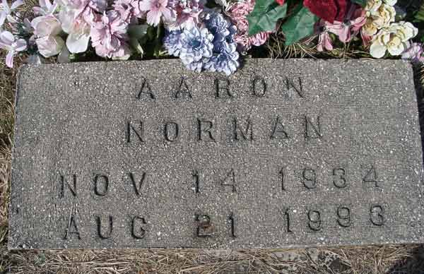Aaron Norman Gravestone Photo