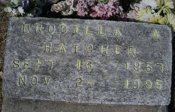 Drucilla Hatcher Gravestone Photo