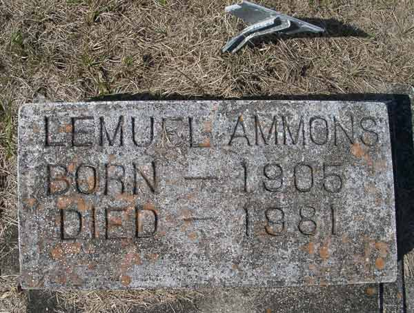 Lemuel Ammons Gravestone Photo