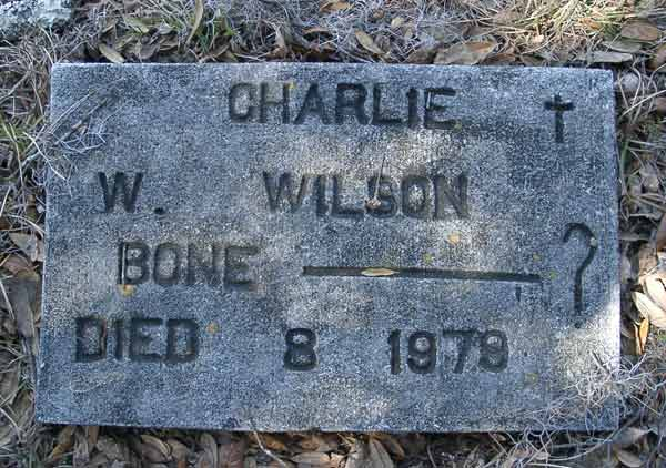 Charlie W. Wilson Gravestone Photo