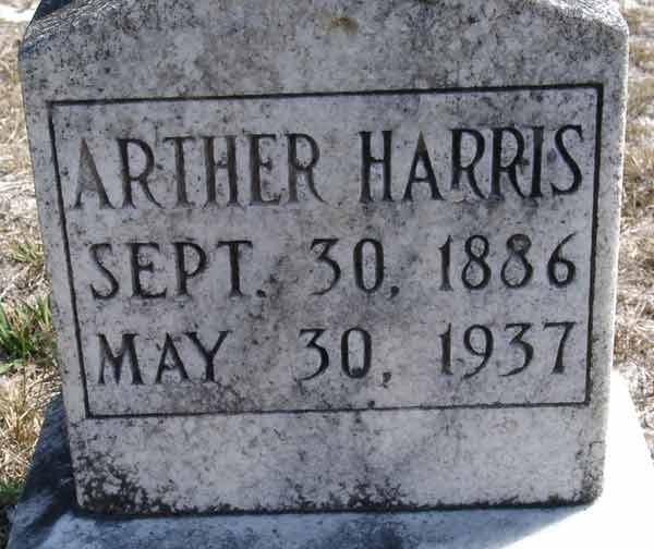 Arther Harris Gravestone Photo
