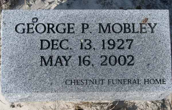 George P. Mobley Gravestone Photo