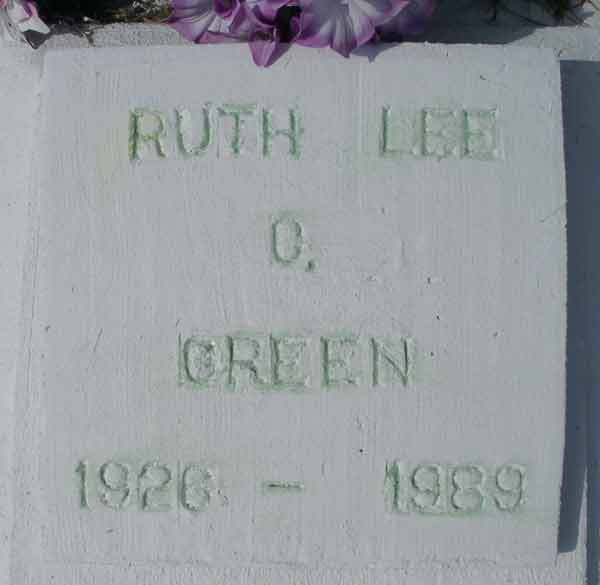 Ruth Lee C. Green Gravestone Photo