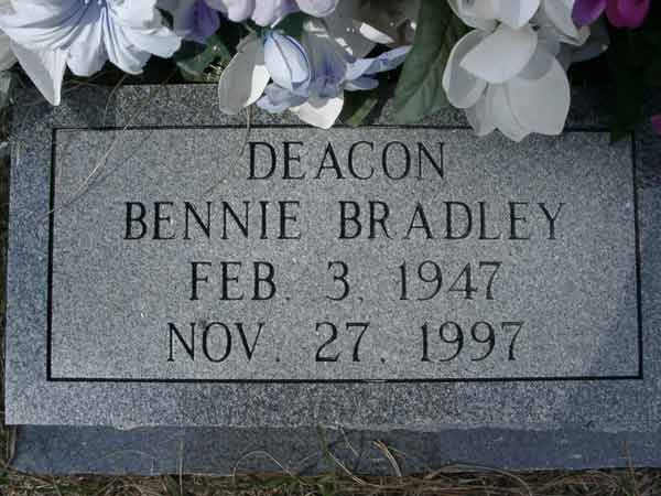 Bennie Bradley Gravestone Photo