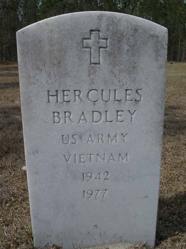 Hercules Bradley Gravestone Photo
