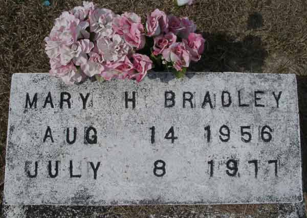 Mary H. Bradley Gravestone Photo