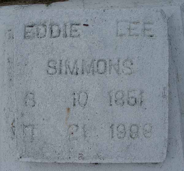 Eddie Lee Simmons Gravestone Photo