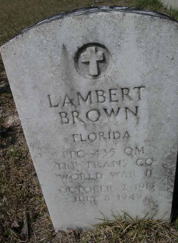 Lambert Brown Gravestone Photo