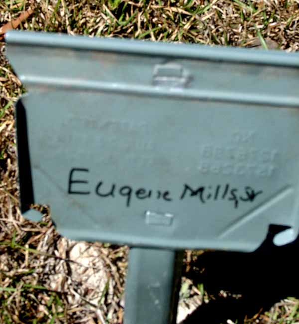 Eugene Mills Gravestone Photo